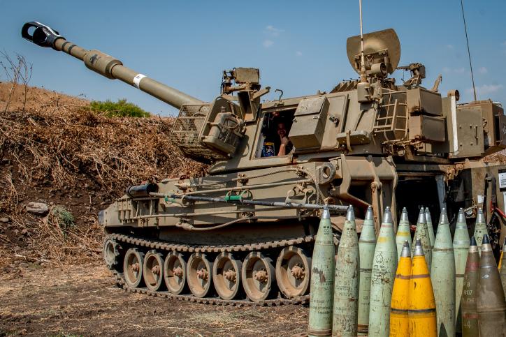 """כוח צה""""ל בגבול הצפון אמש, יורה פגזים לכיוון השדות בלבנון"""