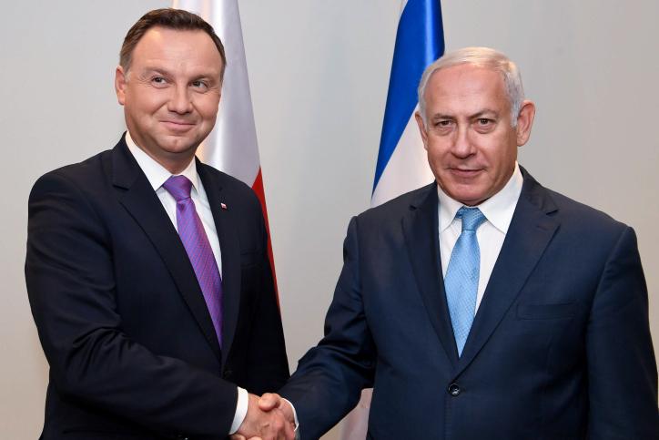 """ראש ממשלת פולין עם ראה""""מ נתניהו"""