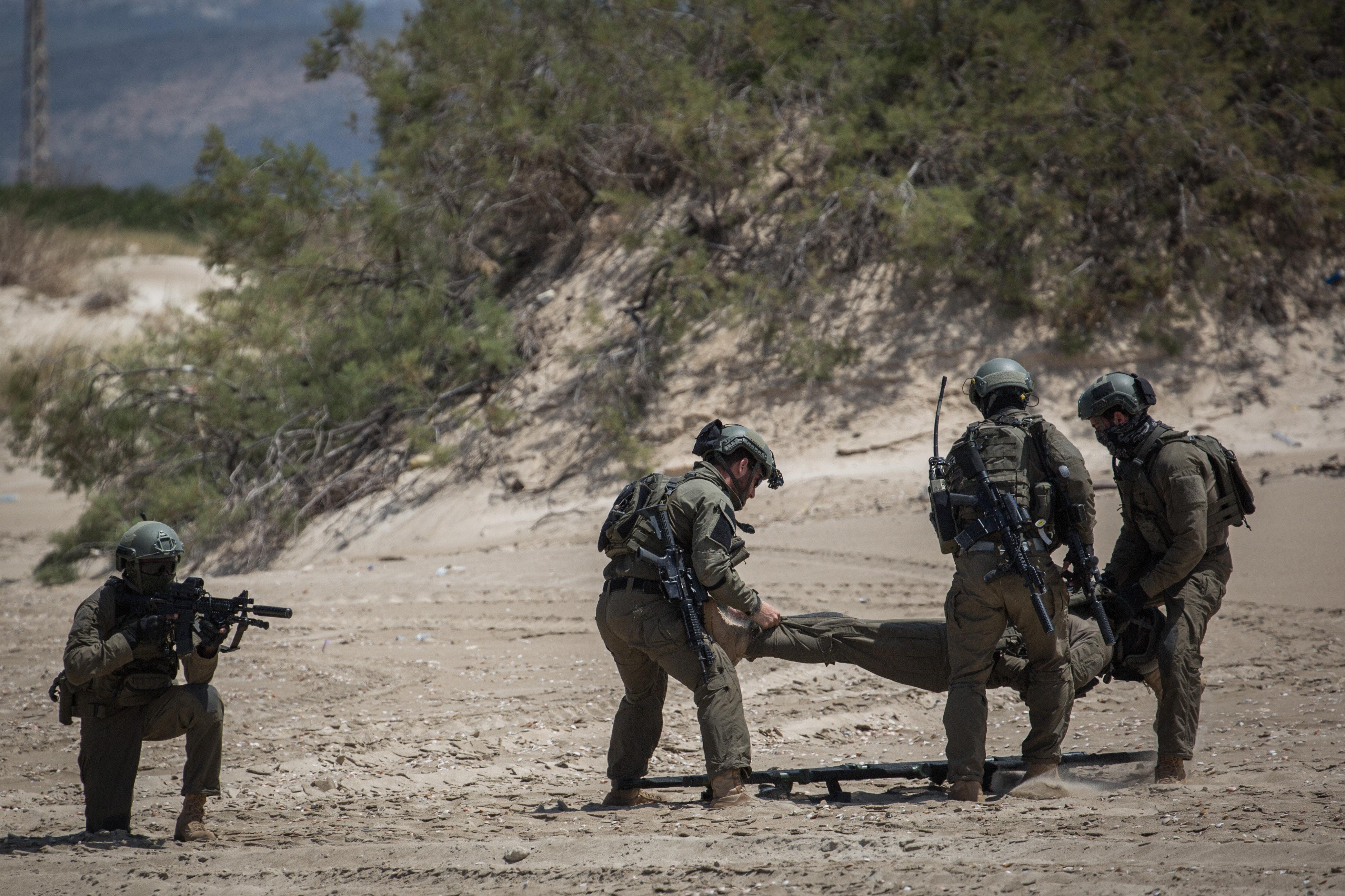 """חיילי צה""""ל במהלך תרגיל"""