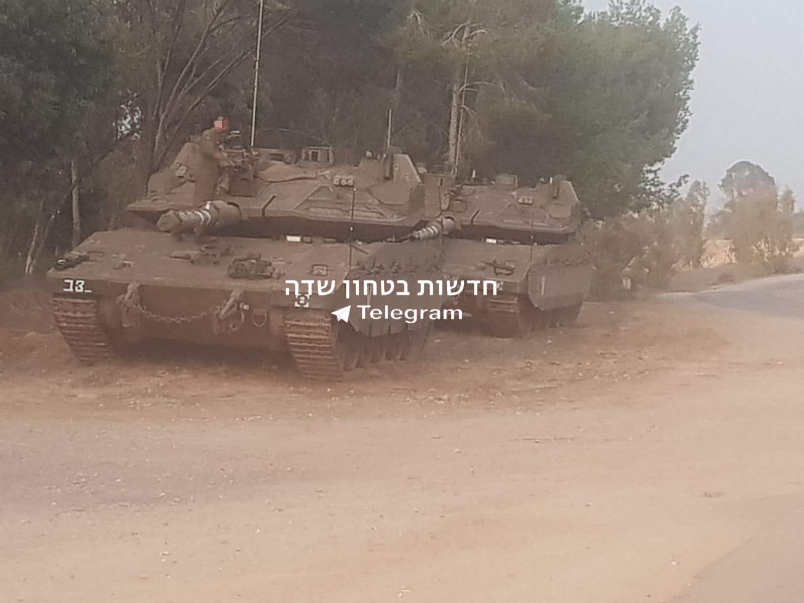 טנקים בגבול הרצועה היום