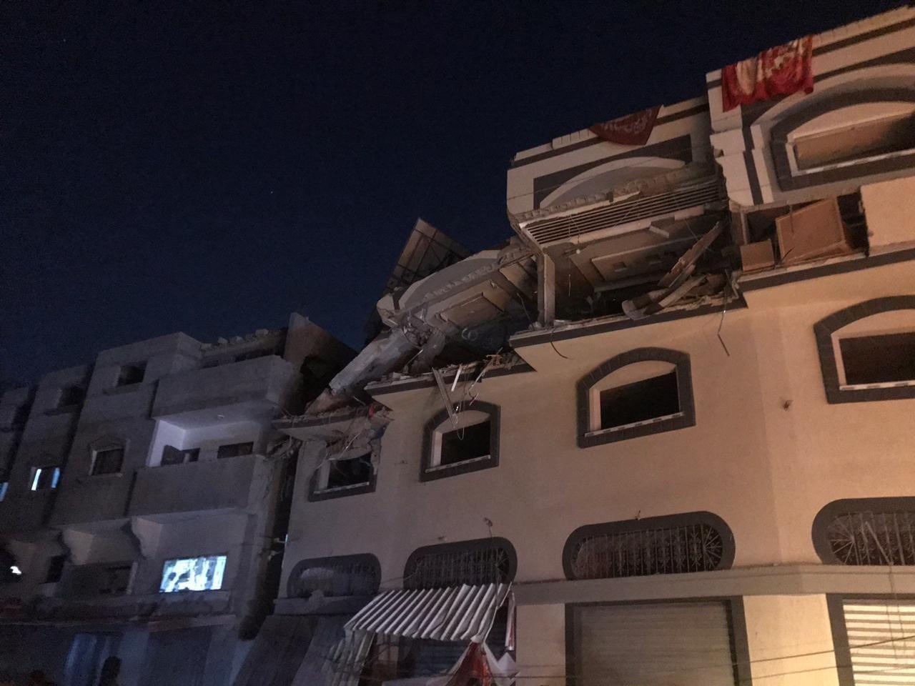 הבית שהותקף הלילה בעזה