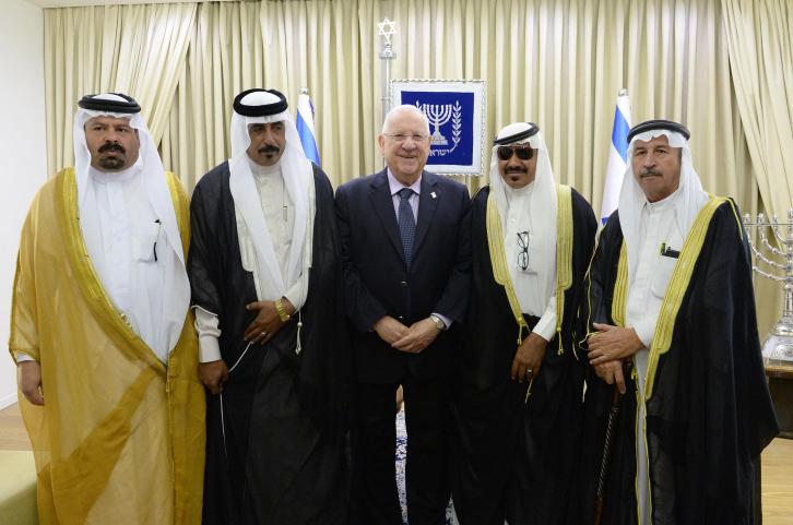 הנשיא עם משלחת מירדן