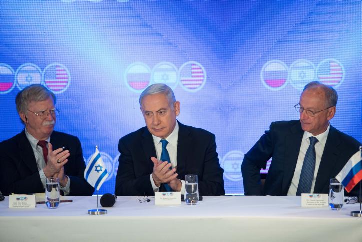 """פסגת היועצים לביטחון לאומי של ארה""""ב, רוסיה וישראל בירושלים לפני מספר חודשים"""