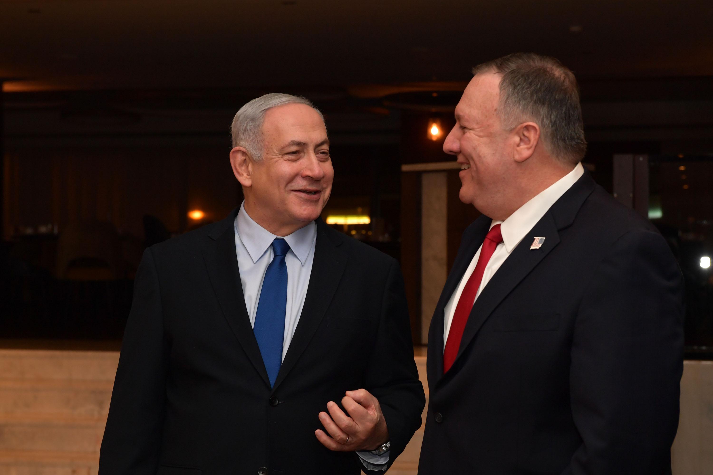 ראש הממשלה עם שר החוץ האמריקאי היום בליסבון