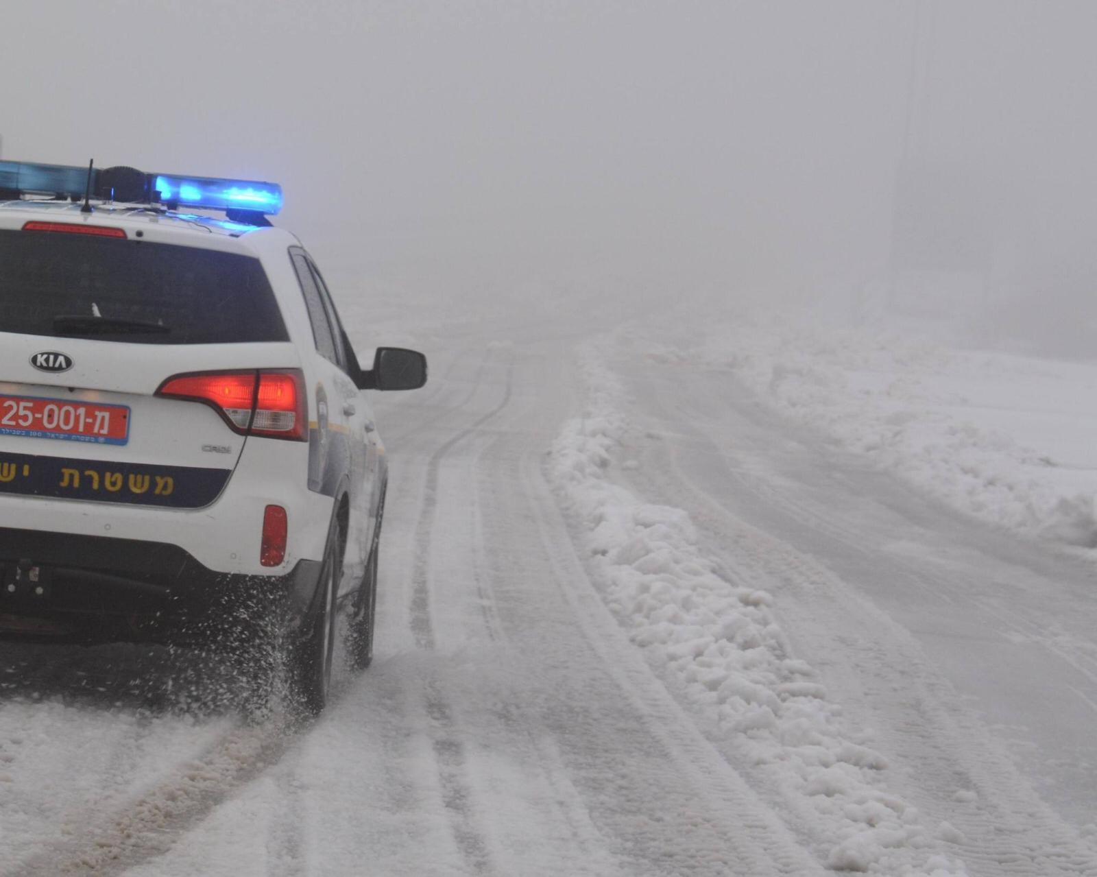 משטרה, שלג
