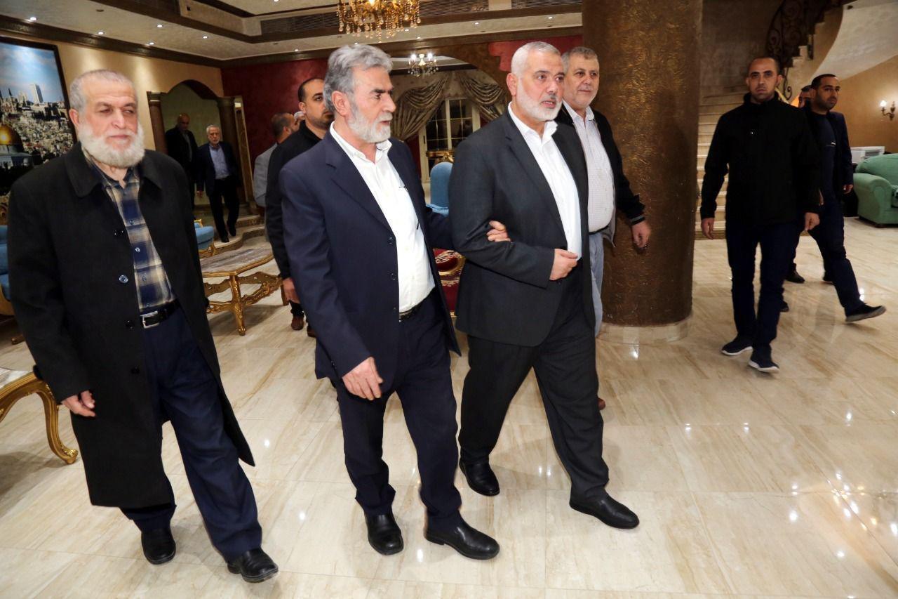 מנהיגי חמאס והג'יאהד האיסלאמי בקהיר היום
