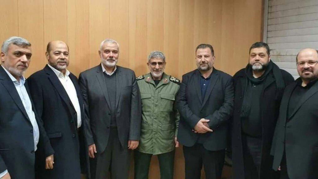 קאאני עם ראשי ארגוני הטרור ברצועת עזה