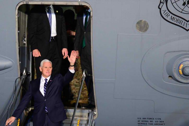 סגן הנשיא בביקורו האחרון בישראל