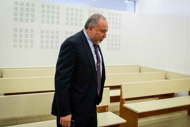 ליברמן יוצא מהדיון