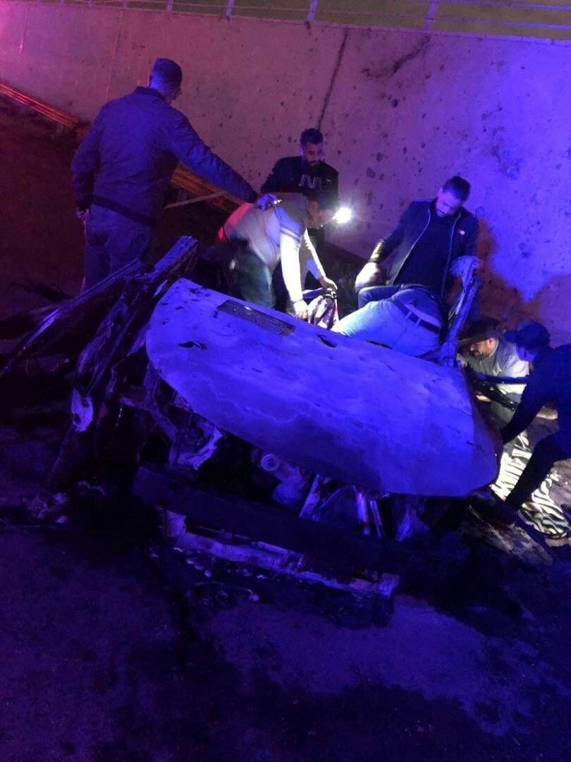 זירת החיסול של הארכי טרוריסט קאסם סלימאני