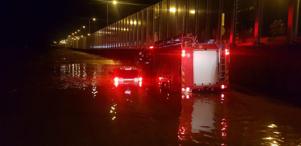 חילוץ בסמוך לנחל קישון