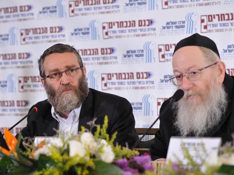"Gafni rejects Litzman's peace offer: ""We are all Michi Alper"""