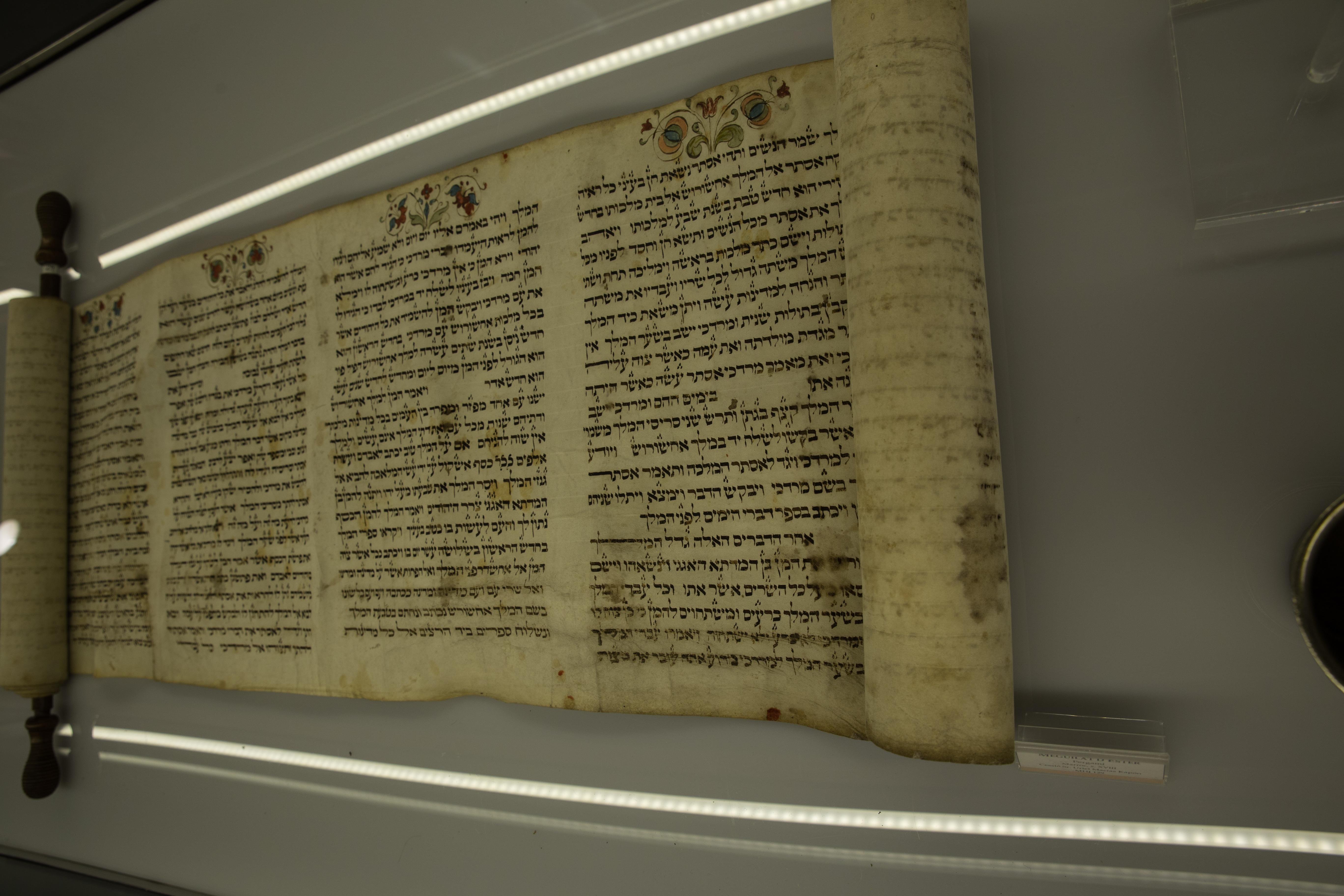 עפר גדנקן ספר תורה מוזיאון ספרד
