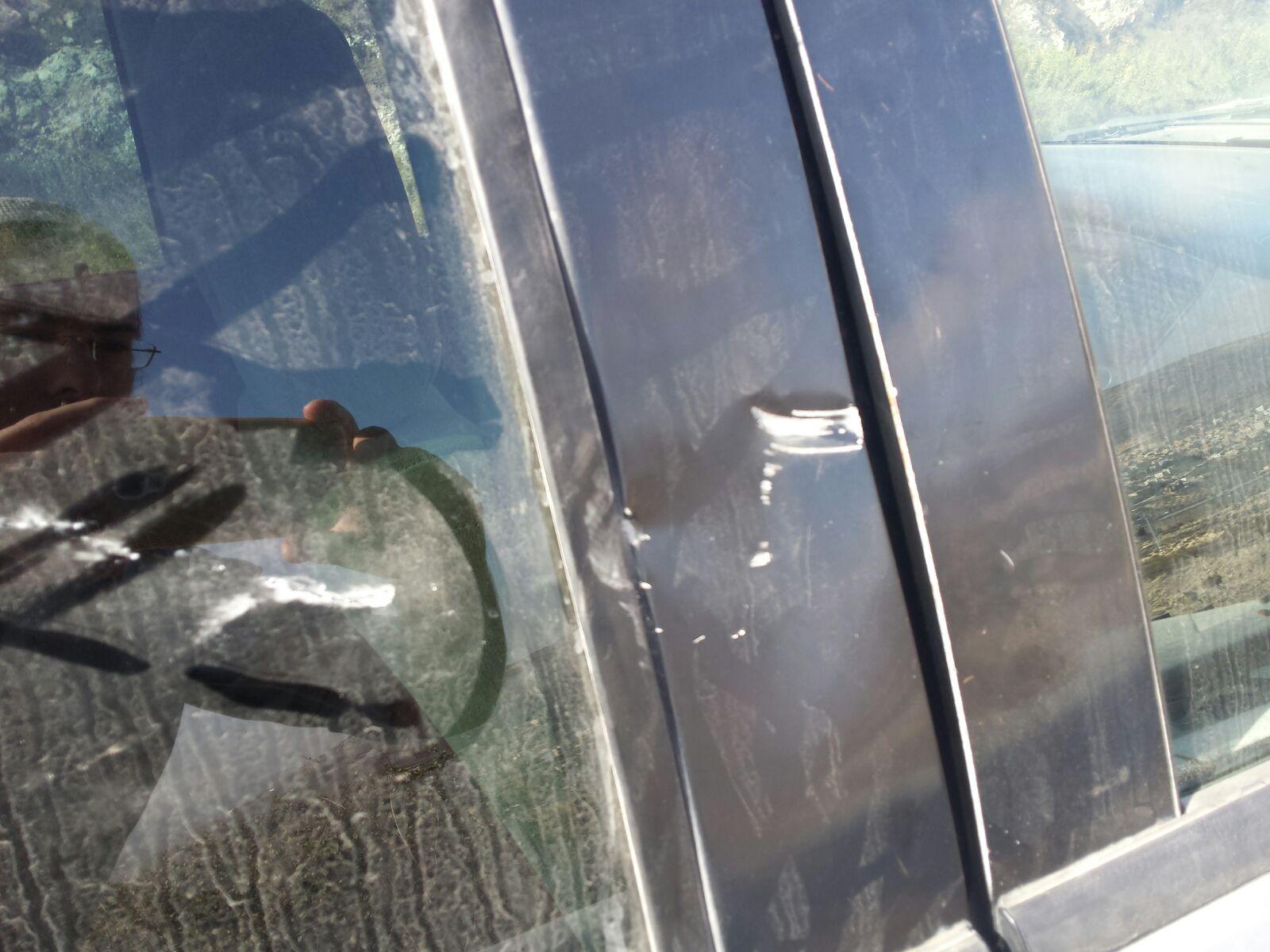 הרכב שנפגע צילום חוננו ירי