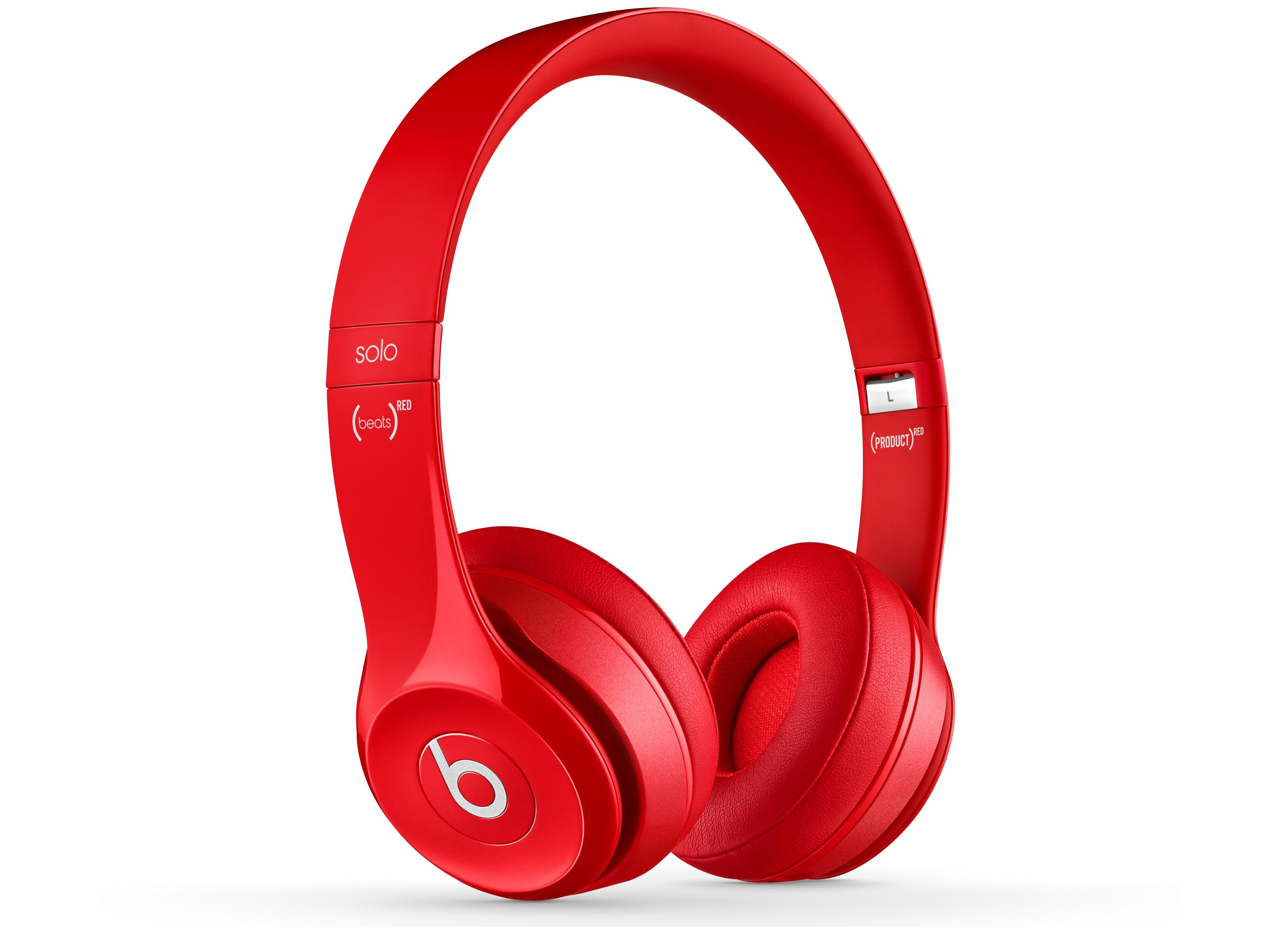 S-49335-Beats Solo2 On-Ear Headphones - Red-quarter